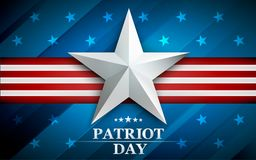 Patriot day. Design for postcard, flyer, poster, banner. 11th of september. We Will Never Forget. Vector illustration. Patriot day. Design for postcard, flyer royalty free illustration