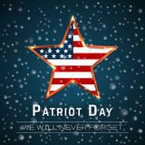 Patriot Day 9.11 digital sign with star onthe raindrop background, vector illustration vector illustration