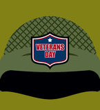Patriot day. Emblem on  soldiers helmet. Military helmet. Tradit Royalty Free Stock Image