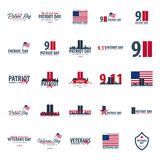 Patriot day emblems or logo. September 11. We will never forget. Patriot day emblems or logo. September 11. We will never forget Stock Photos