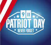 Patriot day flag background illustration Royalty Free Stock Photography