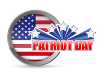 Patriot day flag seal illustration design Stock Photography