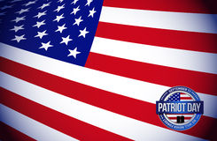 patriot day flag sign illustration design graphic Stock Photography