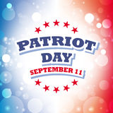 Patriot day greeting card. Patriot day america greeting card abstract background Stock Images
