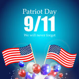 Patriot Day the 11/9 Label, We Will Never Forget Royalty Free Stock Photography
