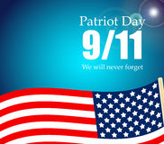 Patriot Day the 11/9 Label, We Will Never Forget Stock Image