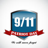 Patriot Day the 11/9 Label, We Will Never Forget Stock Images