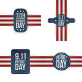 Patriot Day memorial Tags Collection Royalty Free Stock Photo