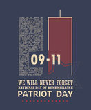9/11 Patriot Day, Never Forget. National day of remembrance. September 11 Stock Photo