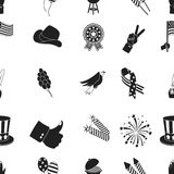 Patriot Day pattern icons in black style. Big collection of Patriot Day vector symbol stock illustration Stock Image