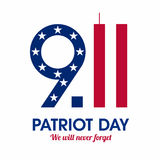 Patriot Day Poster Royalty Free Stock Photo