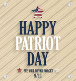 Patriot Day poster. 9/11, never forget. Wooden background Stock Photo