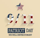 9/11 Patriot Day poster. Vector illustration Stock Images