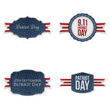Patriot Day realistic Banners Set Stock Images