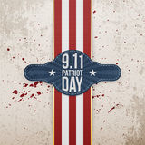 Patriot Day realistic patriotic Tag Template Stock Photos