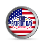 Patriot day seal. Illustration design graphic icon Royalty Free Stock Image