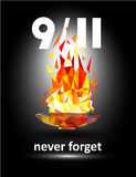 Patriot Day September 11 2001. Never Forget. Stock Photos