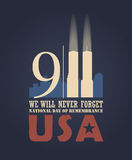 9/11 Patriot Day, September 11. Never Forget. National day of remembrance vector illustration
