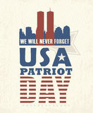 9/11 Patriot Day, September 11. Never Forget. Royalty Free Stock Photos