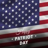 Patriot Day. September 11. Vector illustration. Patriot Day. September 11. Waving flag Stock Photos