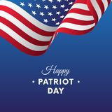 Patriot Day. September 11. Vector illustration. Patriot Day. September 11. Waving flag Stock Image