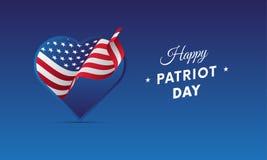 Patriot Day. September 11. Vector illustration. Patriot Day. September 11. Waving flag Stock Photography
