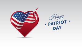 Patriot Day. September 11. Vector illustration. Patriot Day. September 11. Waving flag Royalty Free Stock Photography
