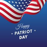 Patriot Day. September 11. Vector illustration. Patriot Day. September 11. Waving flag Royalty Free Stock Photos