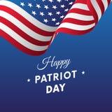 Patriot Day. September 11. Vector illustration. Patriot Day. September 11. Waving flag Royalty Free Illustration