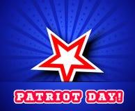 Patriot Day, September 11 waving flag. Stock Image