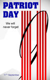 Patriot Day September 11. We will never forget  design. Royalty Free Stock Images