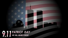 Patriot Day. September 11. We will never forget. Patriot Day illustration. September 11. We will never forget vector illustration
