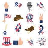 Patriot Day set icons in cartoon style. Big collection of Patriot Day vector illustration symbol. Royalty Free Stock Photography