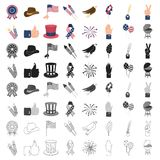 Patriot Day set icons in cartoon style. Big collection of Patriot Day vector symbol stock illustration Stock Images