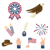 Patriot Day set icons in cartoon style. Big collection of Patriot Day vector symbol stock illustration Royalty Free Stock Image