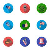 Patriot Day set icons in flat style. Big collection of Patriot Day vector symbol  Royalty Free Stock Photography