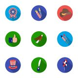 Patriot Day set icons in flat style. Big collection of Patriot Day vector symbol Royalty Free Stock Photos