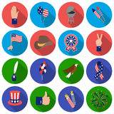 Patriot Day set icons in flat style. Big collection Patriot Day vector symbol stock illustration Stock Image