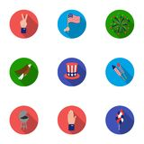 Patriot Day set icons in flat style. Big collection of Patriot Day vector symbol stock illustration. Patriot Day set icons in flat style. Big collection of Stock Photography