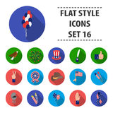 Patriot Day set icons in flat style. Big collection Patriot Day vector symbol stock illustration Royalty Free Stock Photo
