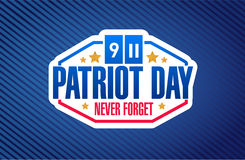 patriot day sign background illustration Stock Image
