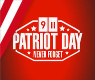 Patriot day sign background illustration design Stock Photography
