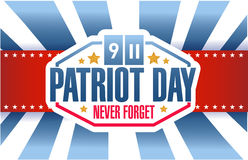 Patriot day sign background illustration design Royalty Free Stock Photos