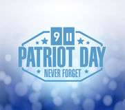 Patriot day sign bokeh background illustration Royalty Free Stock Photo