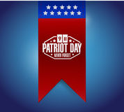 Patriot day sign hanging banner. Illustration design graphic Stock Photos