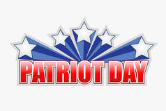 Patriot day sign illustration design graphic Stock Image