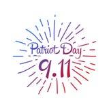 Patriot day, simple memorial design  illustration 11 september.   Royalty Free Stock Image