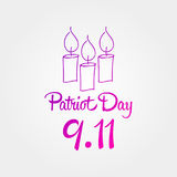 Patriot day, simple memorial design  illustration 11 september.  Royalty Free Stock Photography