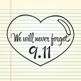 Patriot day, simple memorial design  illustration 11 september. Stock Images