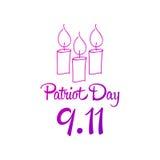 Patriot day, simple memorial design  illustration 11 september. Royalty Free Stock Photos